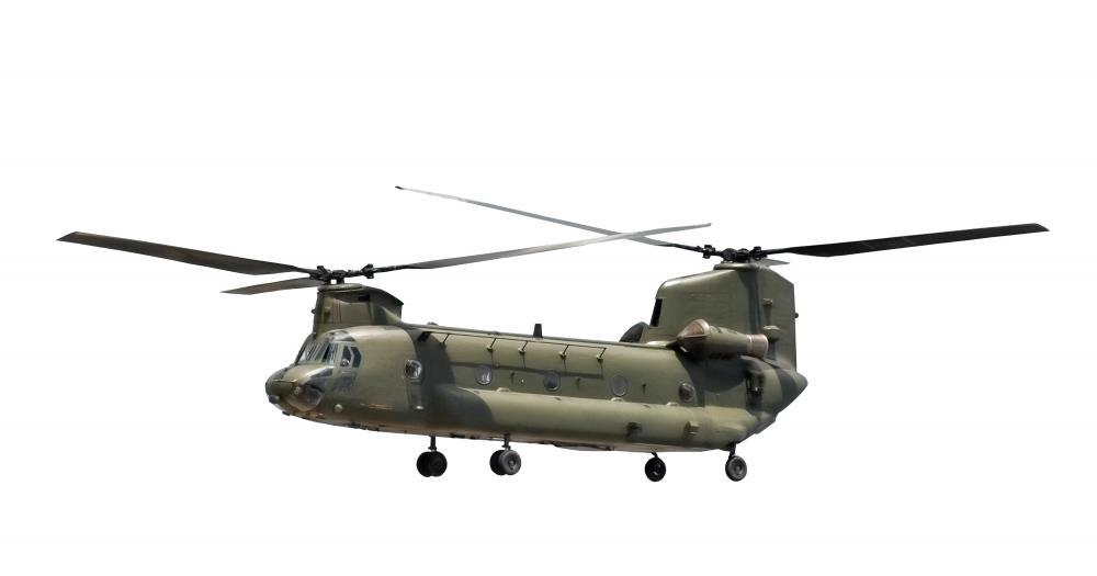 Large Military Helicopter White Military Wall Mural