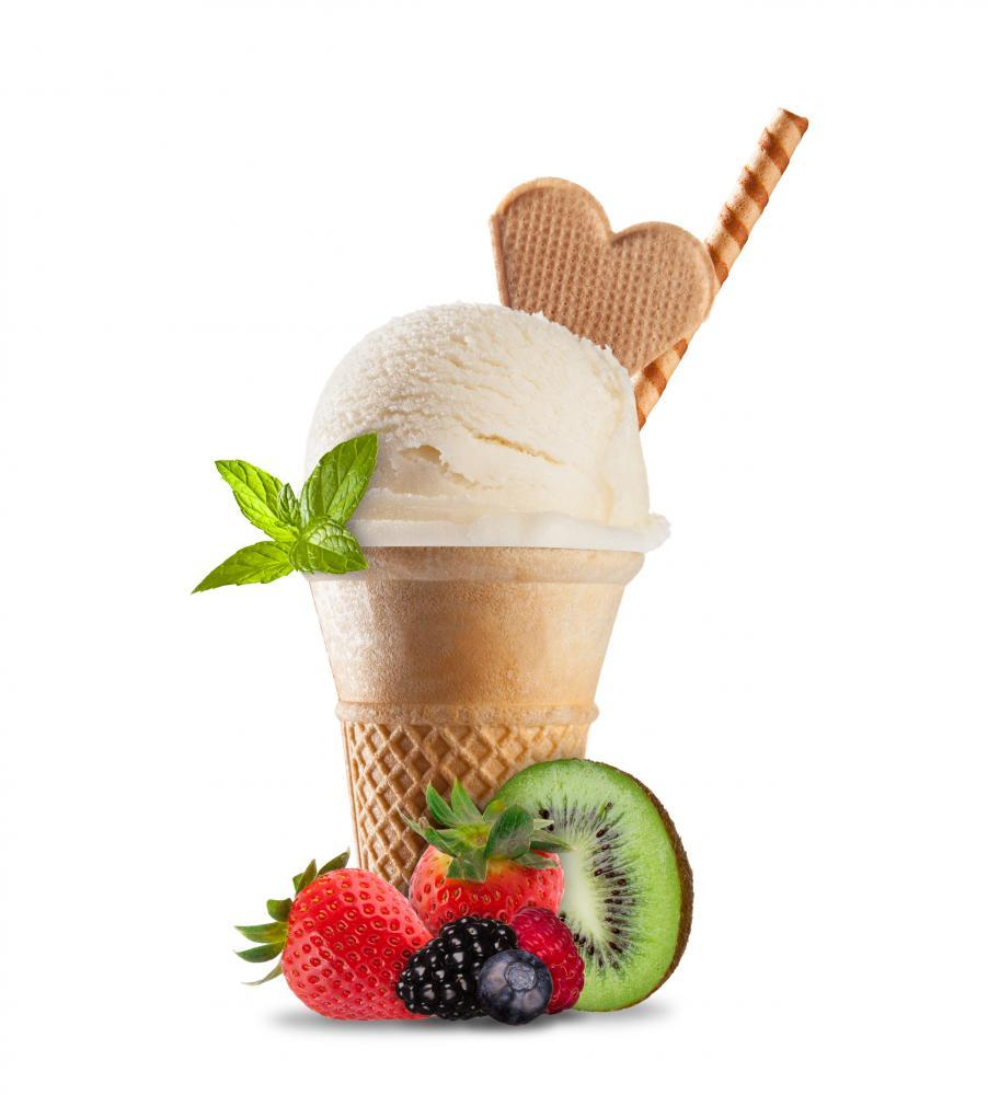 Ice Cream Cones White Food & Drink Wall Mural Sticker