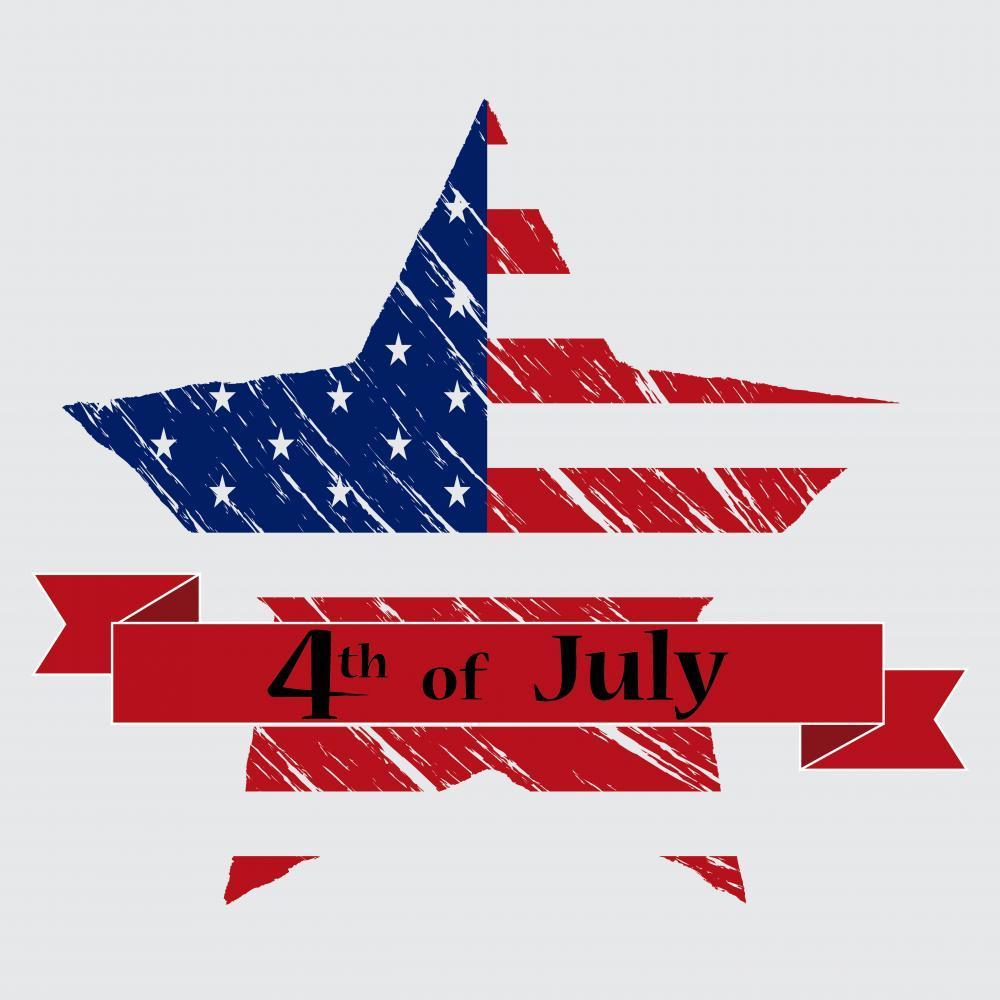 4th July Holiday Wall Mural Sticker