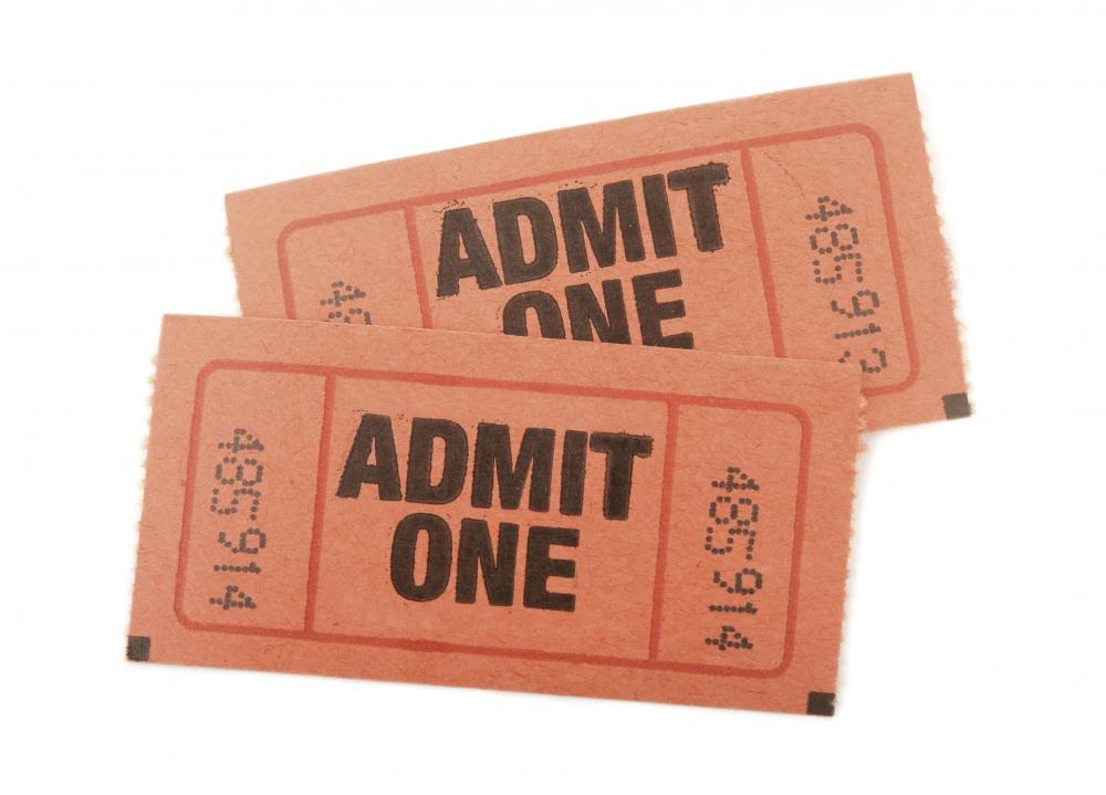 Admit One Tickets Object Wall Mural - Object-Wall-Murals - Decall.ca