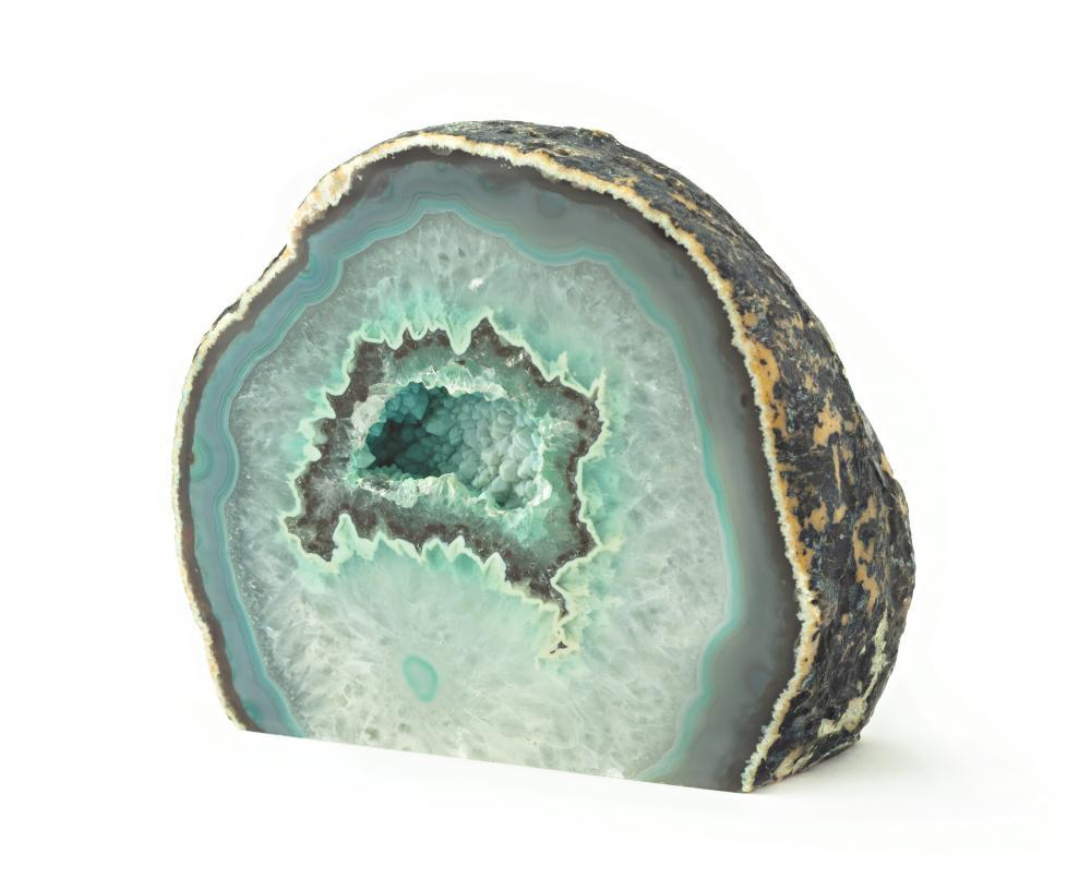 Green Agate Geode Rock Object Wall Mural