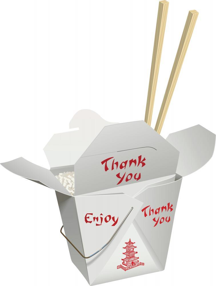 Chinese Take-out with Chop Food & Drink Wall Mural Sticker