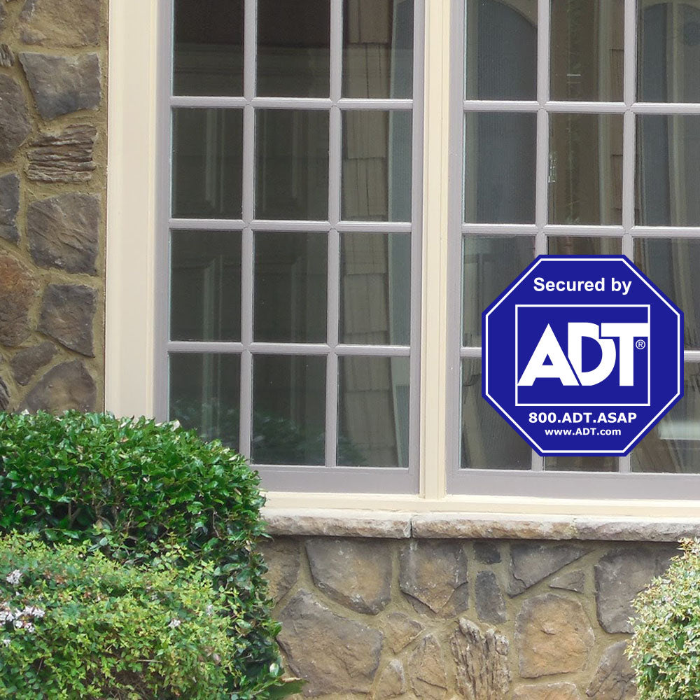 ADT Window Sticker Home Security Sign Alarm Sticker Decal - Stickers - Decall.ca