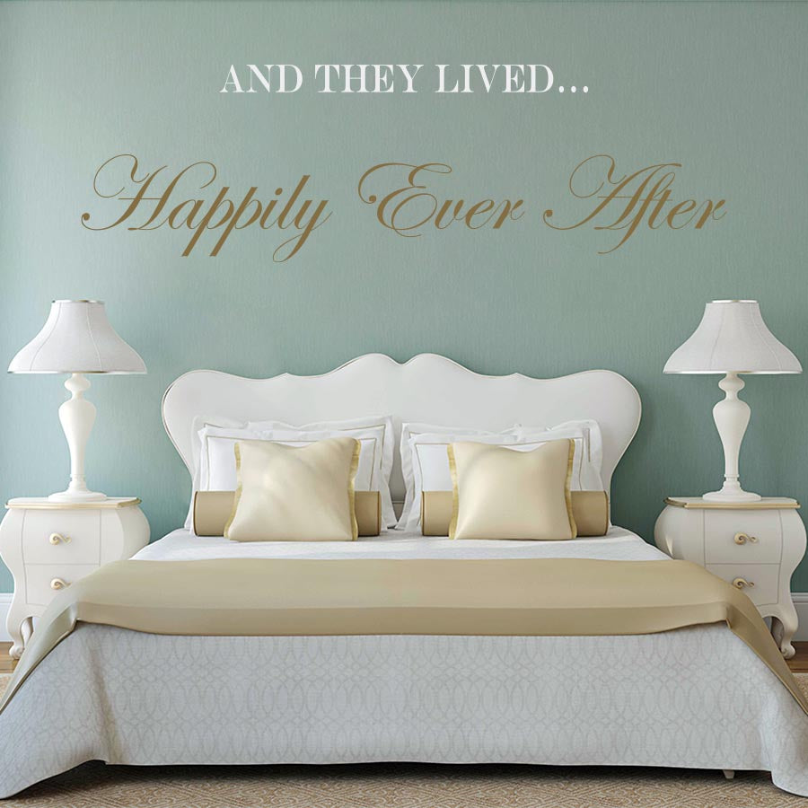 And They Lived Happily Ever After - Wall Decal - Wall-Decals - Decall.ca