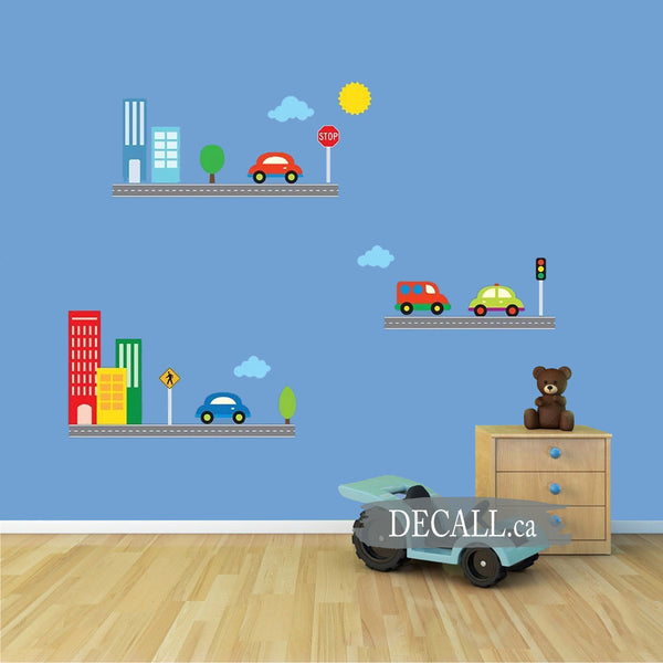 Baby City and Cars Boys Wall Sticker Set DWS1174