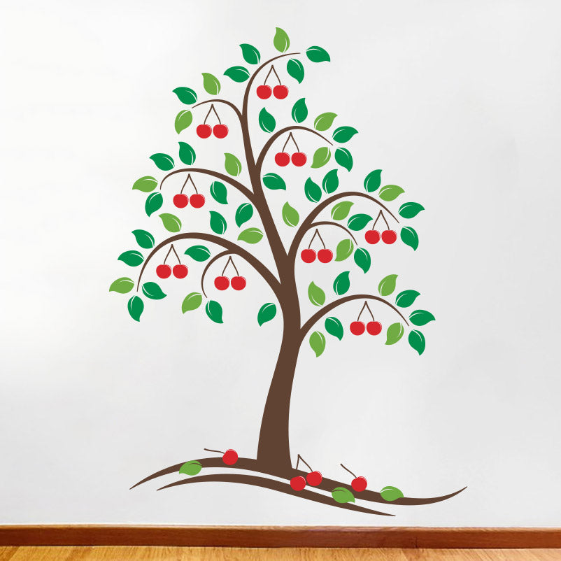 Beautiful Cherry Tree - Wall Decals Stickers - Wall-Decals - Decall.ca