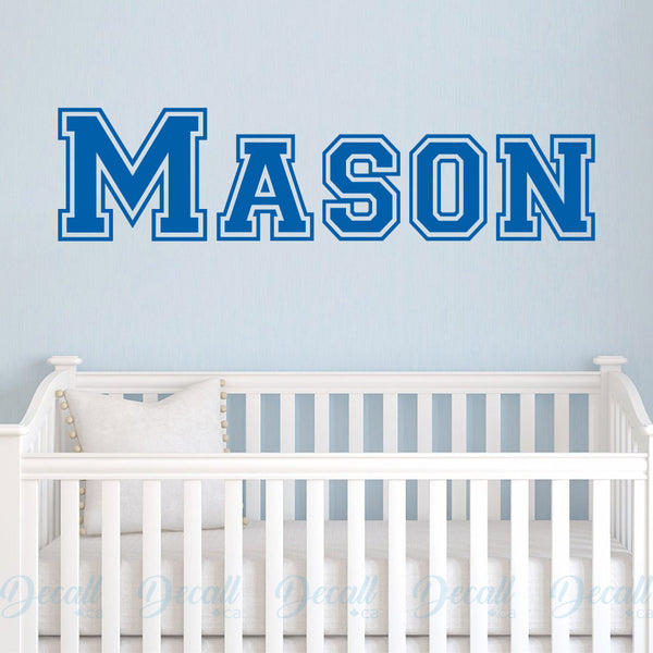 Personalized Boy Name Monogram - Wall Decals Stickers - Wall-Decals - Decall.ca