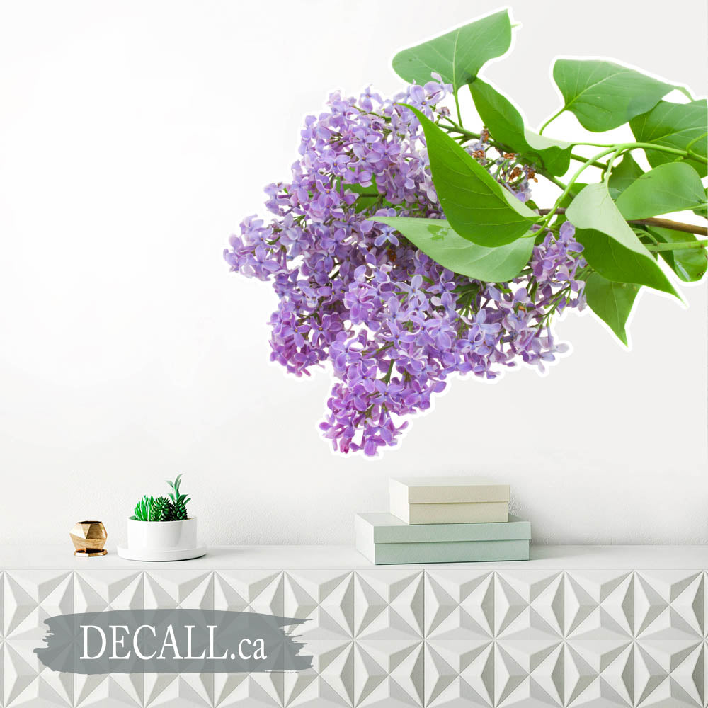 Branch with Lilac Flowers - Flower Wall Sticker - DWS1186