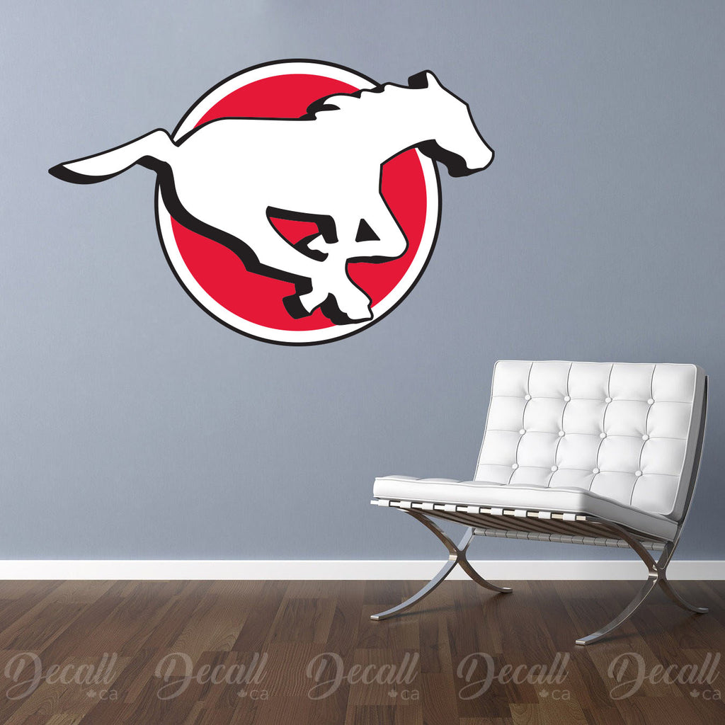 Calgary Stampeders - Canadian Football Team Logo Wall Decal Sticker - Wall-Stickers - Decall.ca
