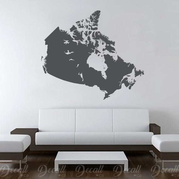 Canada Map Wall Decal - Wall-Decals - Decall.ca