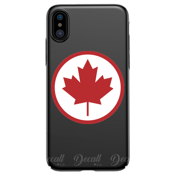 Canada Maple Leaf Peel and Stick Round Sticker
