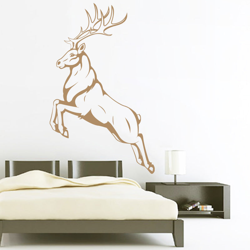 Caribou Deer Jumping - Animal - Wall Decals Stickers - Wall-Decals - Decall.ca