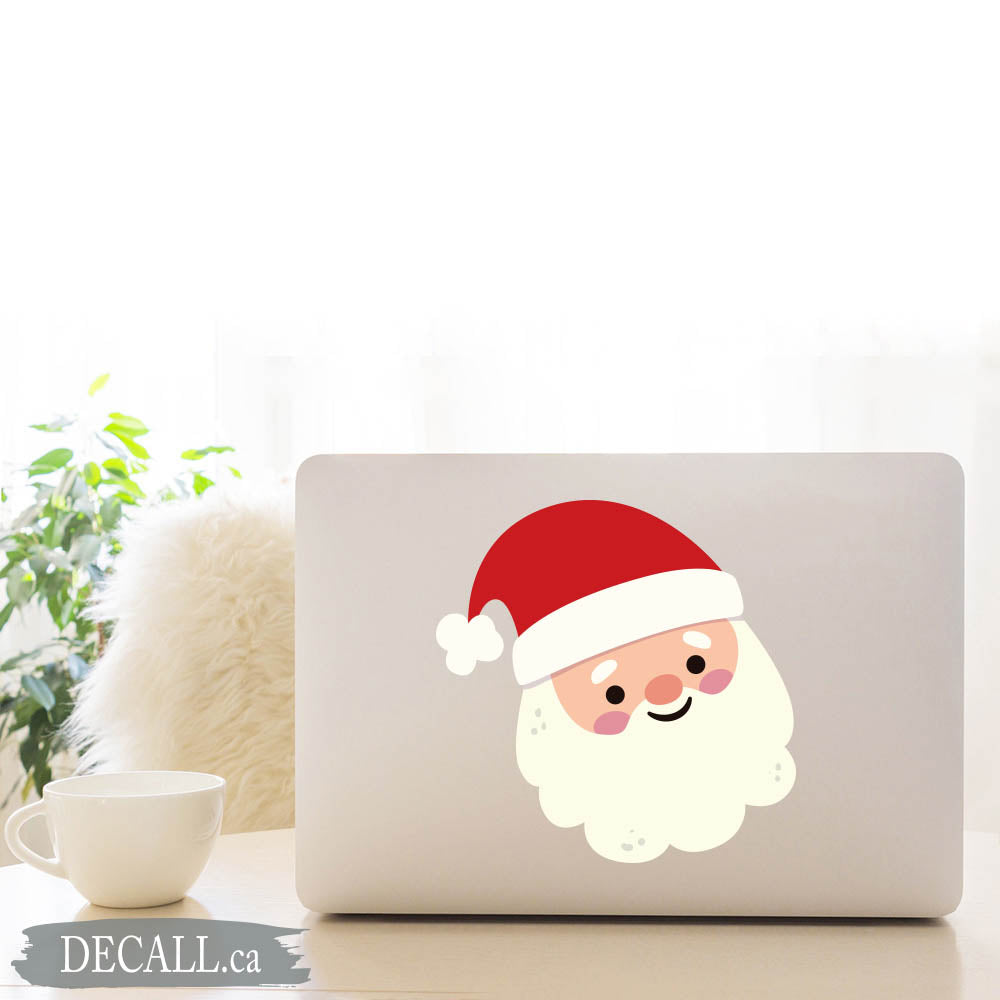 Christmas Santa Claus, Saint Nicholas, Kris Kringle, Father Christmas, Santa Laptop Sticker, Window Sticker, Car Bumper Sticker - DS1222