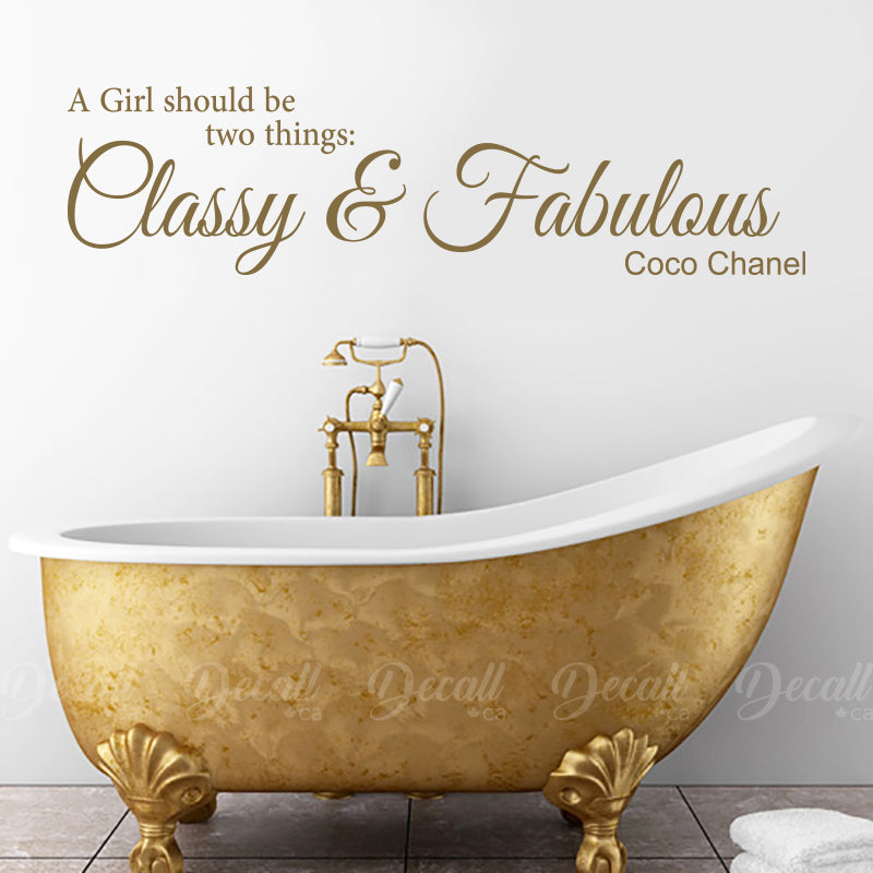 classy fabulous girl - coco chanel - wall quotes – decall.ca