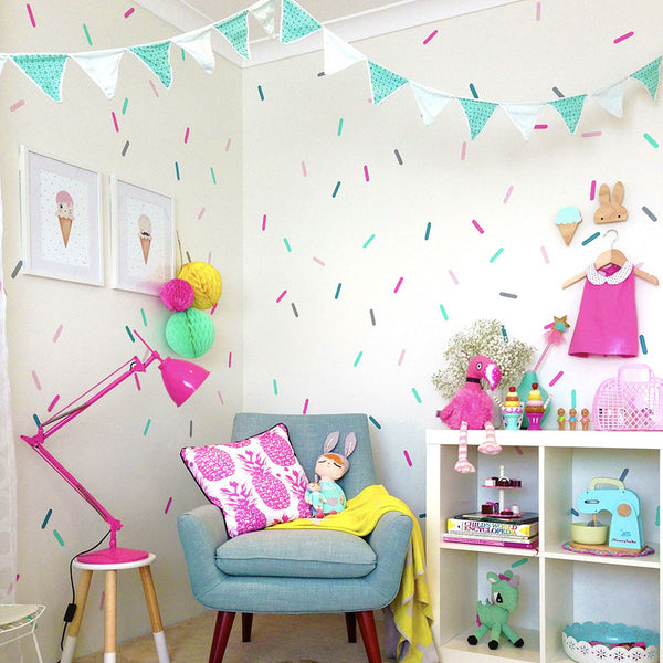 Colorful Confetti Sprinkle Wall Decals - Set of 5 Colours - Wall-Decals - Decall.ca