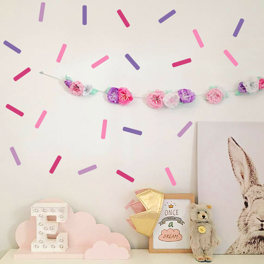 Colorful Sprinkle Confetti Wall Decals - Set of 4 Colours - Wall-Decals - Decall.ca