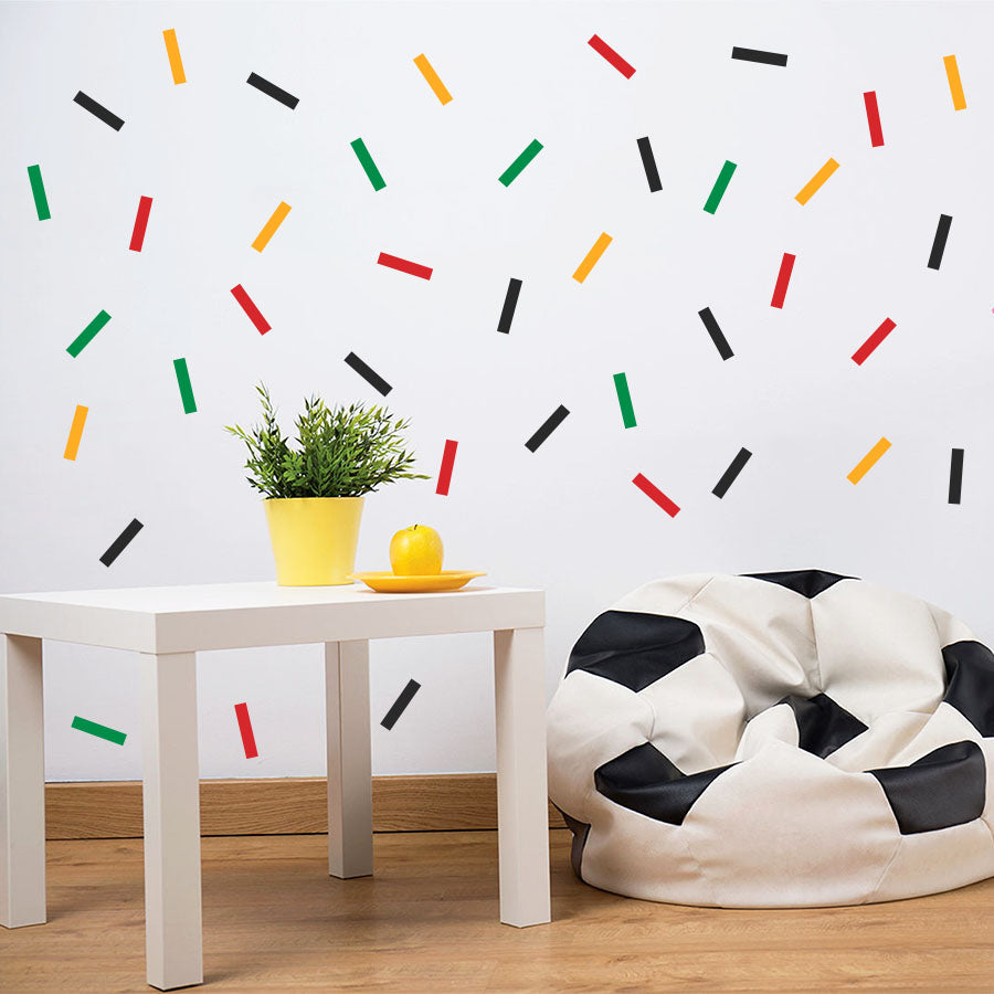 Colorful Sprinkles Confetti Wall Decals - Set of 4 Colours - Wall-Decals - Decall.ca