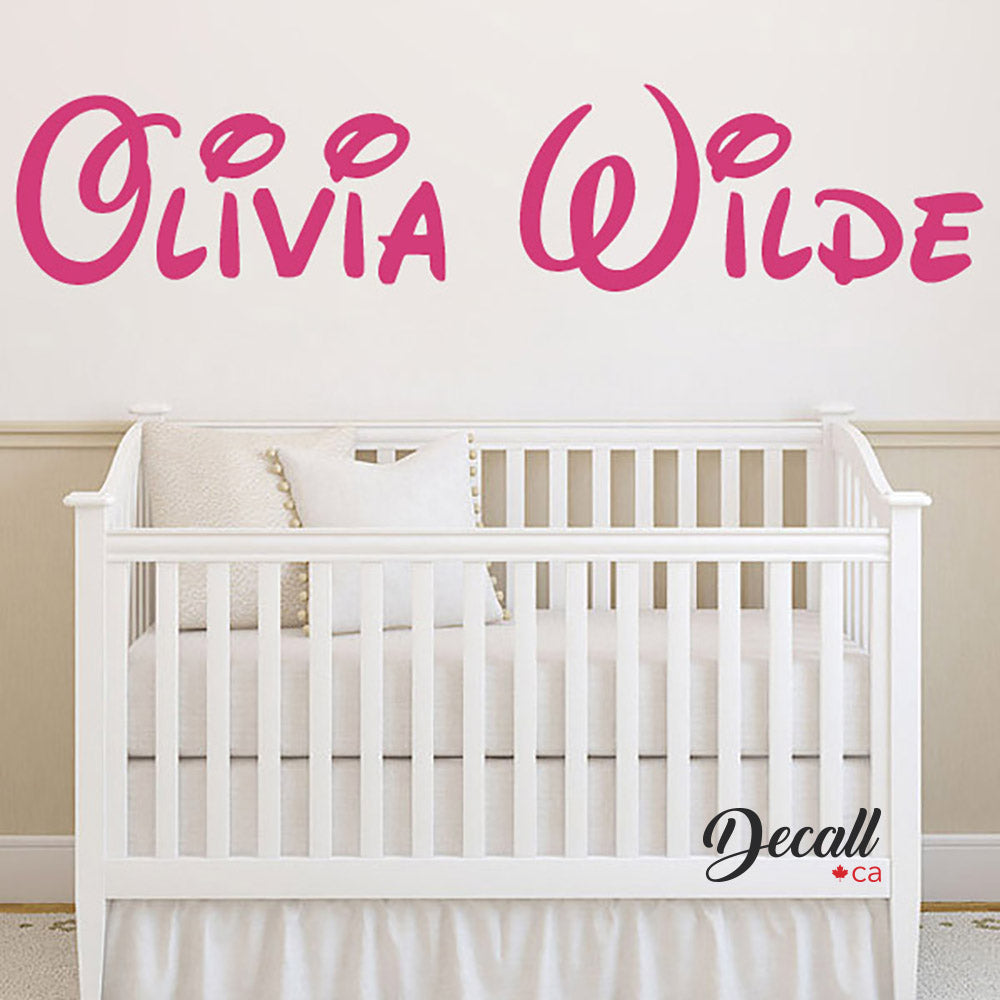 Disney Style Personalized Name Monogram Wall Decal - Wall-Decals - Decall.ca