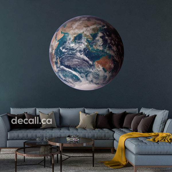 Eastern Hemisphere Earth Space Wall Sticker DWS1236