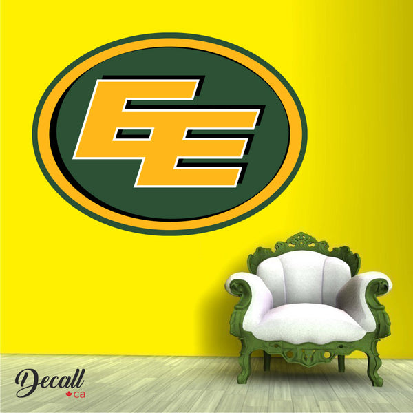 Edmonton Eskimos - Canadian Football Team Logo Wall Decal Sticker - Wall-Stickers - Decall.ca