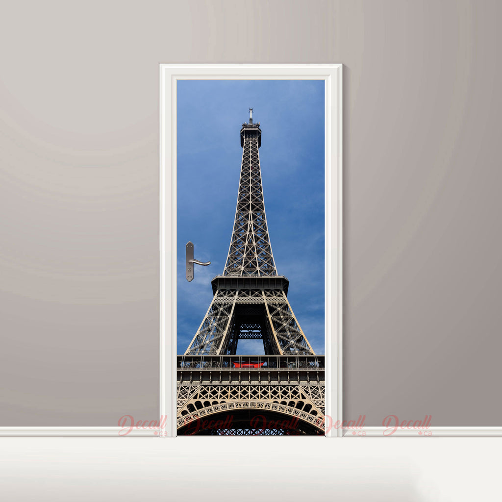 Eiffel Tower Door Mural - Door-Murals - Decall.ca