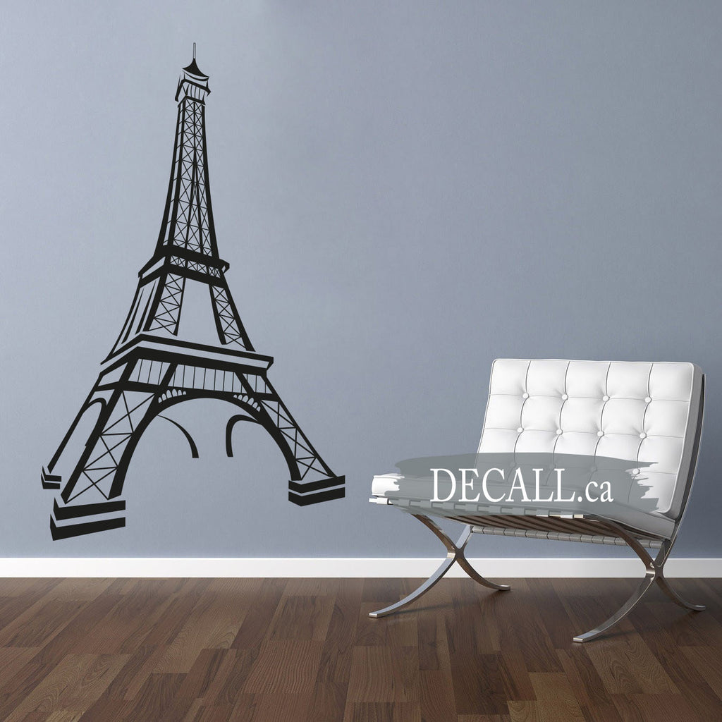 Paris Eiffel Tower Wall Decal - Removable Vinyl Decal S047