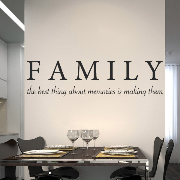 Family Memories - Wall Lettering - Wall-Decals - Decall.ca