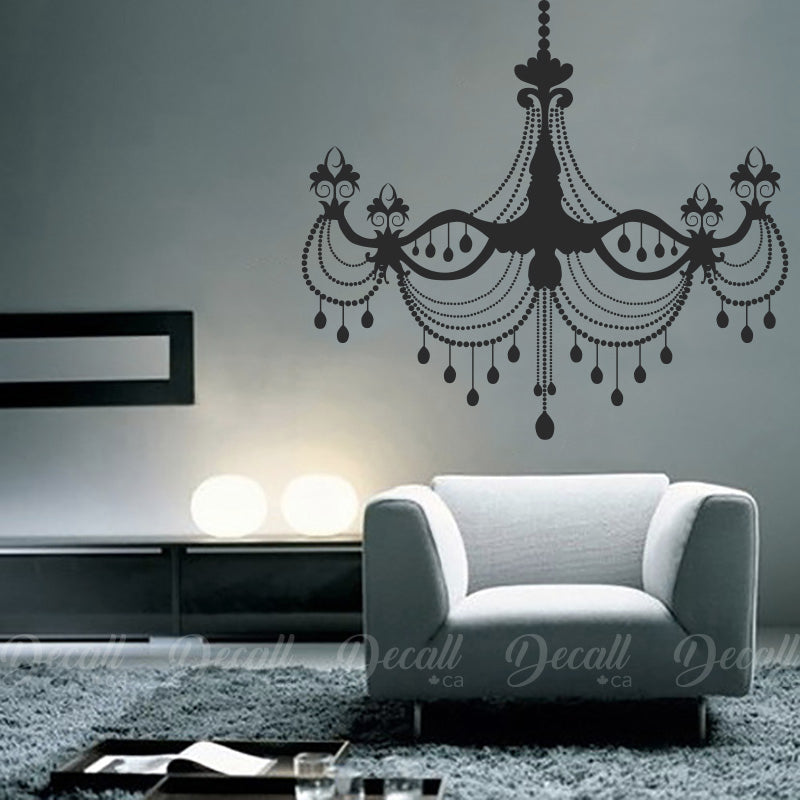 Fancy Crystal Chandelier - Vinyl Decal - Wall-Decals - Decall.ca