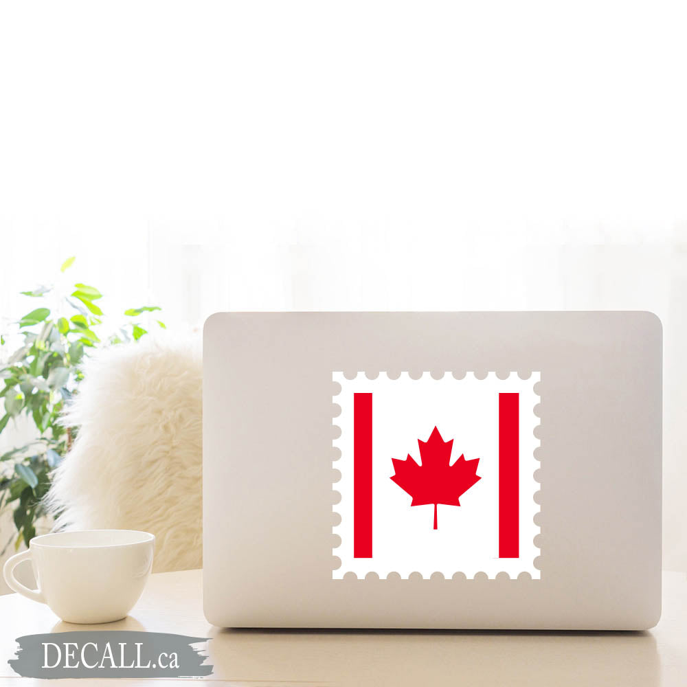 Canada Flag Stamp Maple Leaf Sticker DS1224