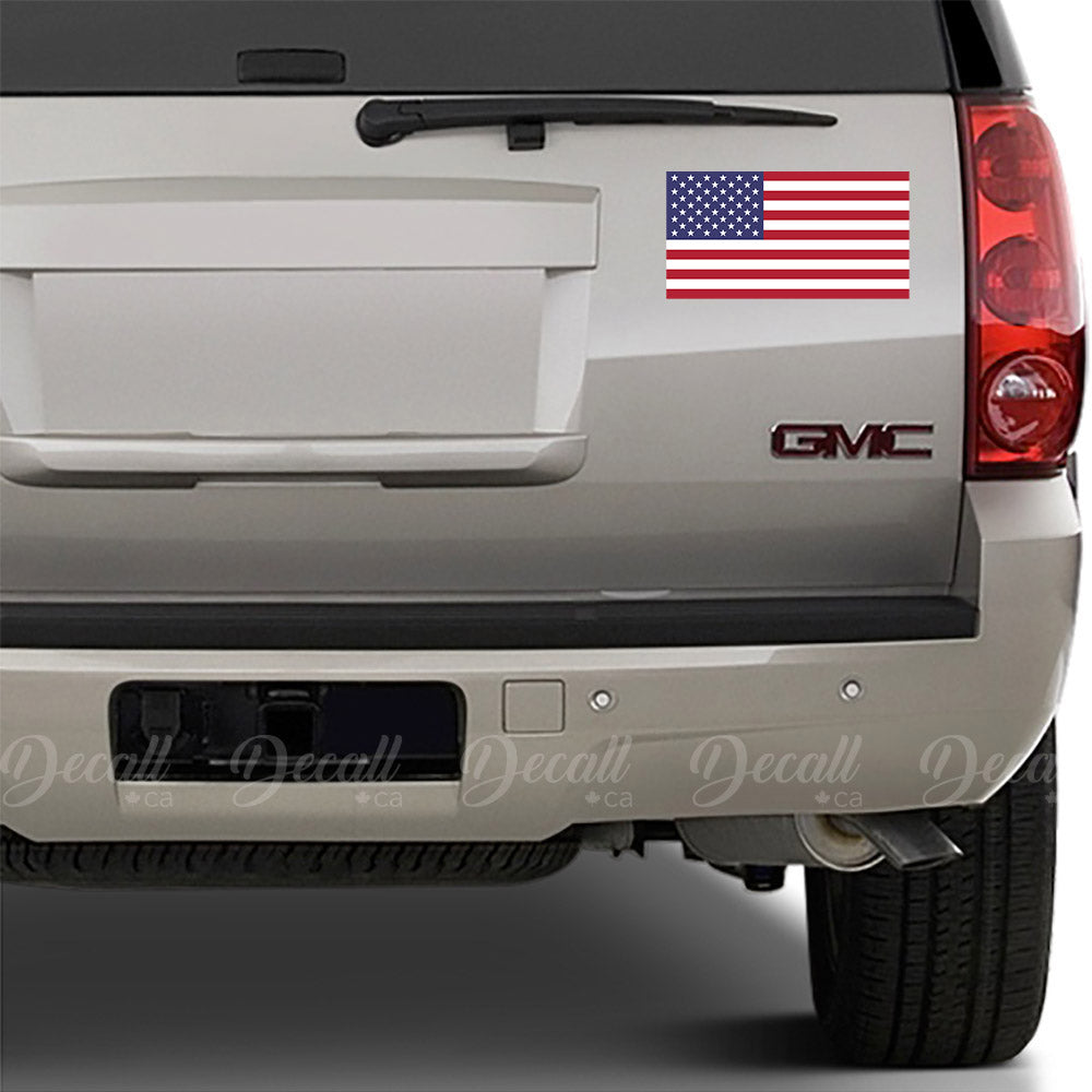 Flag of the United States - the American Flag - Bumper Sticker - Car Sticker - Laptop Sticker - Stickers - Decall.ca