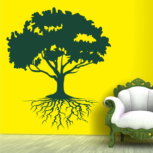 Floating Tree with Roots - Tree Wall Decal - Wall-Decals - Decall.ca