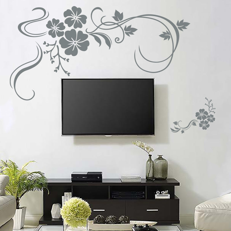 Floral Flower Vines - Wall Decal - Wall-Decals - Decall.ca