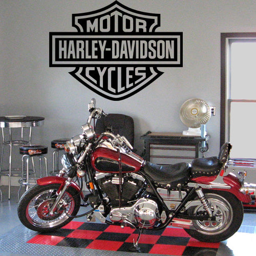Motorcycles Harley Davidson Logo Wall Decal - Wall-Decals - Decall.ca