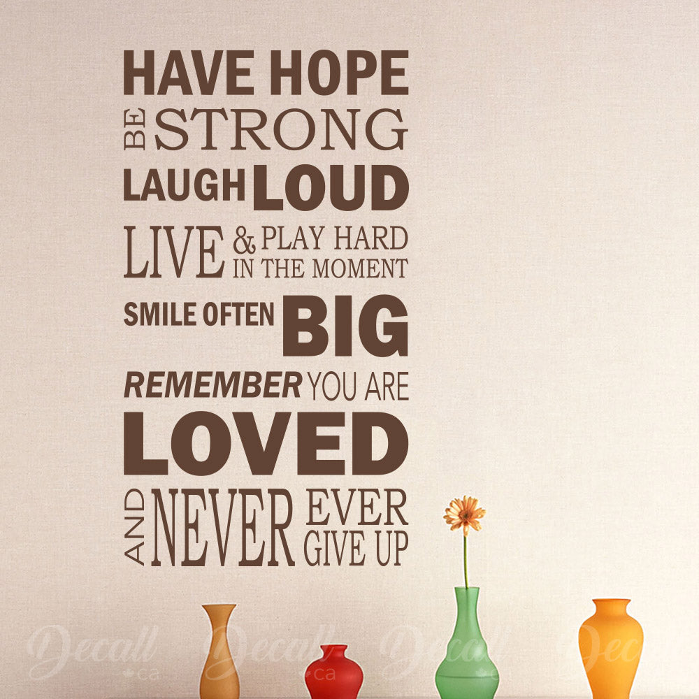 Have Hope Be Strong - Wall Lettering - Wall-Decals - Decall.ca