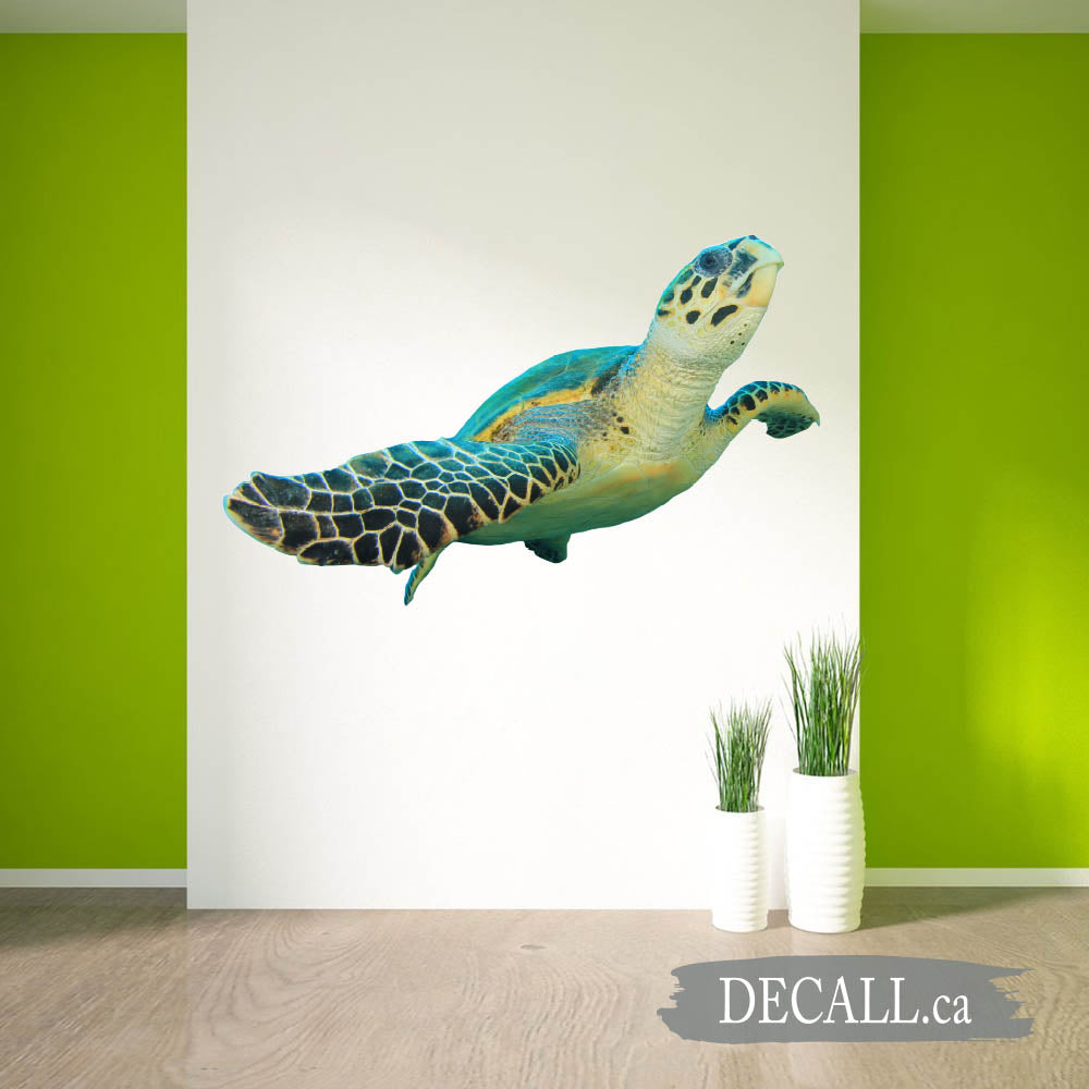 Hawksbill Sea Turtle Animal Wall Sticker DWS1227