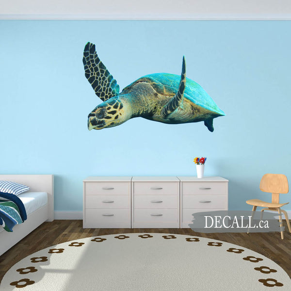 Hawksbill Sea Turtle Animal Wall Sticker DWS1228