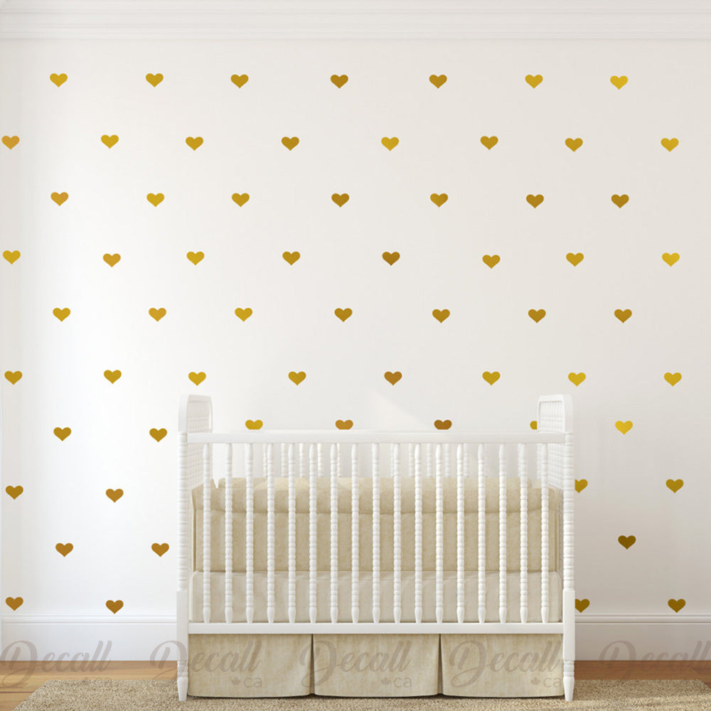 Hearts Wall Decals Removable Vinyl Decals - Wall-Decals - Decall.ca