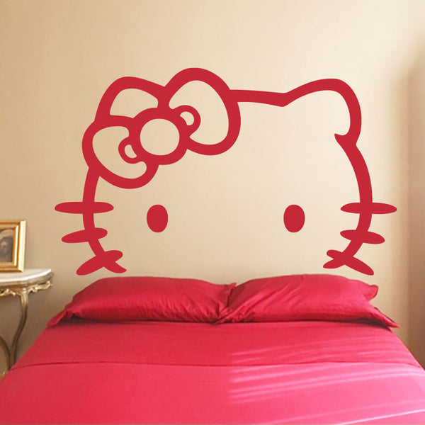 Hello Kitty White - Headboard - Wall Decal - Wall-Decals - Decall.ca