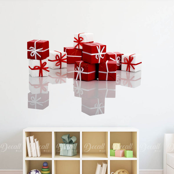 Holiday Christmas Boxing Gifts Boxes Wall Sticker DWS1210