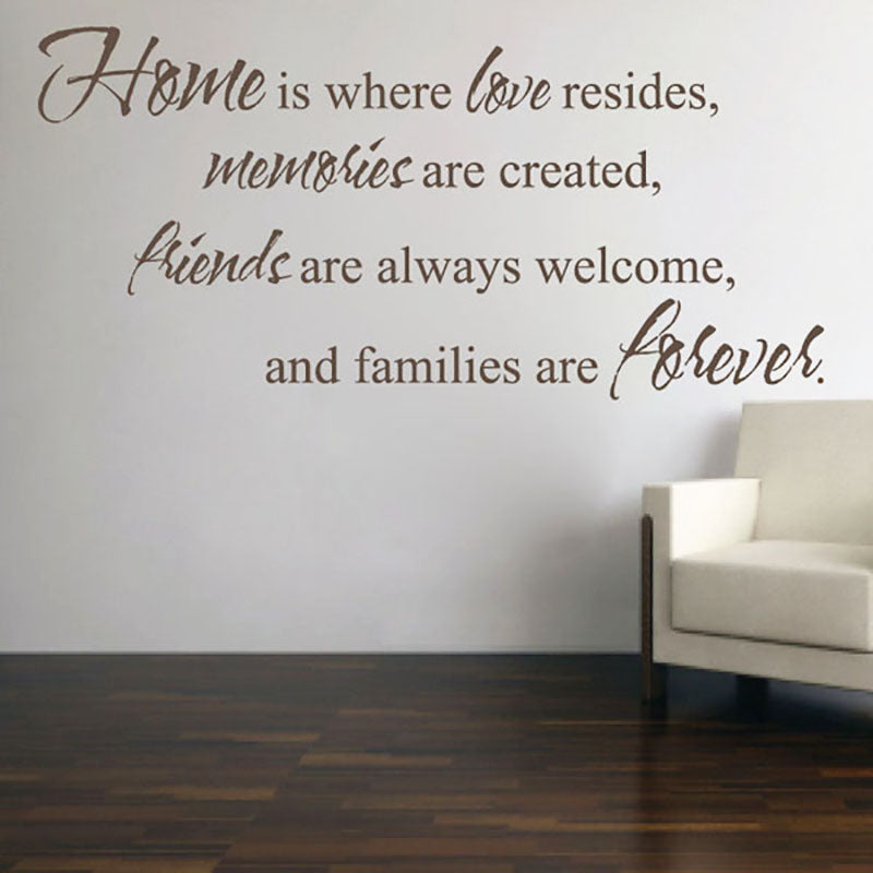 Home is Where Love Resides - Wall Saying - Wall-Decals - Decall.ca