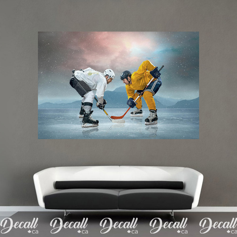Ice Hockey Players on the Ice Sports Wall Mural