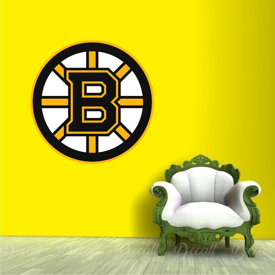 Ice Hockey Team Boston Bruins Logo Sport Wall Sticker - Wall-Stickers - Decall.ca