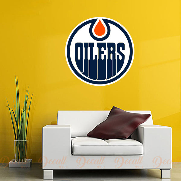 Ice Hockey Team Edmonton Oilers Logo Sport Wall Sticker - Wall-Stickers - Decall.ca