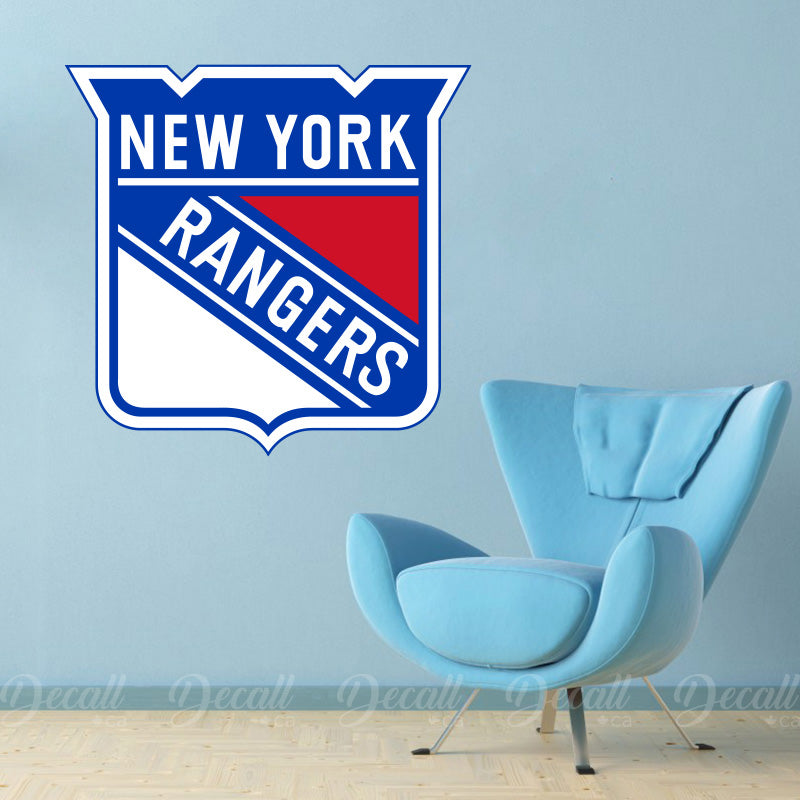 Ice Hockey Team New York Rangers Logo Sport Wall Sticker - Wall-Stickers - Decall.ca