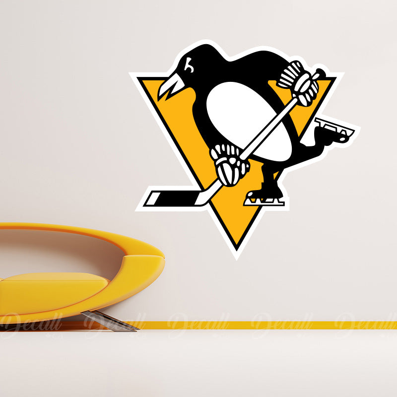 Ice Hockey Team Pittsburgh Penguins Logo Sport Wall Sticker - Wall-Stickers - Decall.ca
