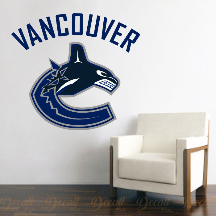 Ice Hockey Team Vancouver Canucks Logo Sport Wall Decal Sticker - Wall-Stickers - Decall.ca