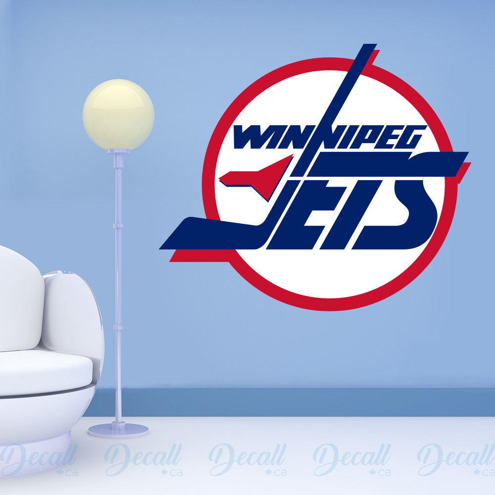 Ice Hockey Team Winnipeg Jets Logo Sport Wall Sticker - Wall-Stickers - Decall.ca