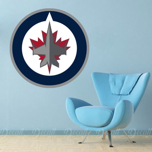 Ice Hockey Team Winnipeg Jets Logo Sport Wall Stickers - Wall-Stickers - Decall.ca