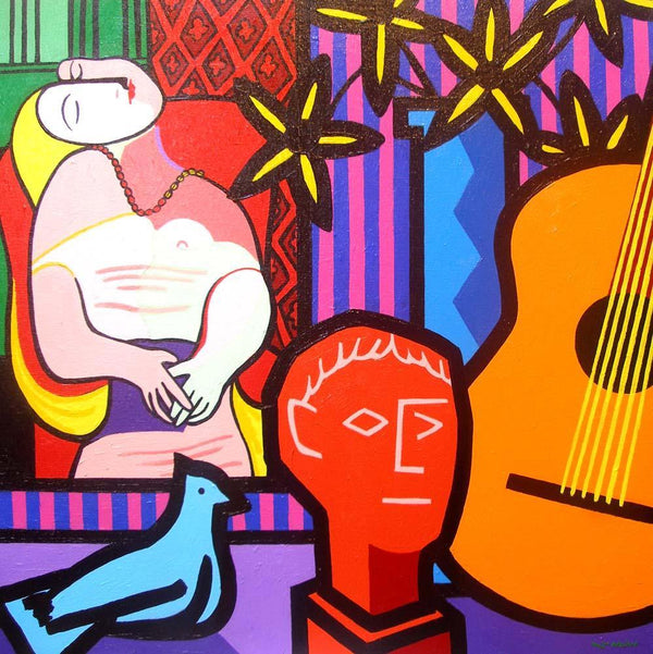 Still Life with Picassos Fine Art Wall Mural