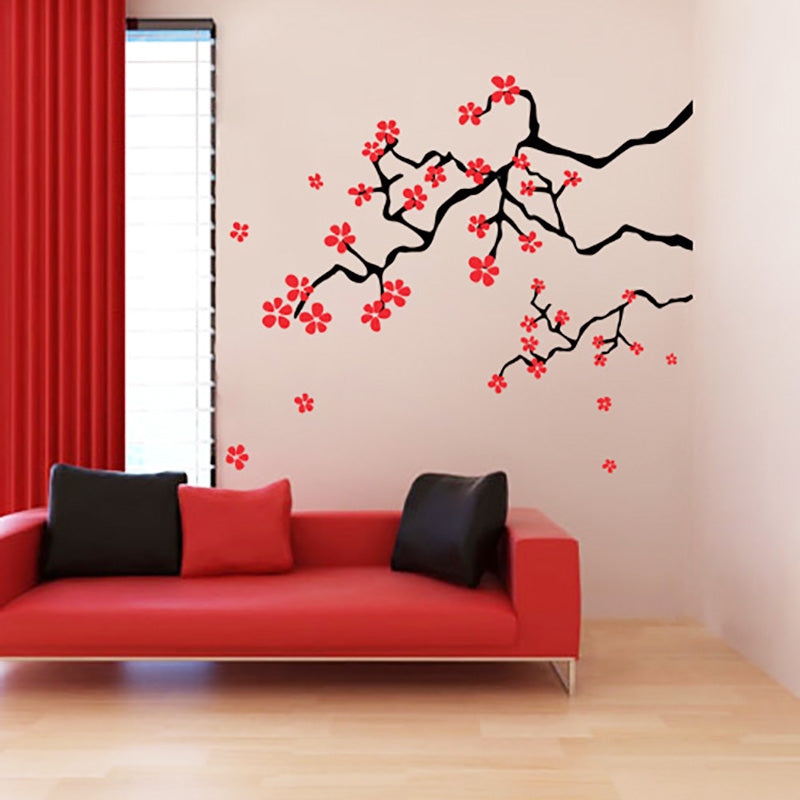 japanese spring cherry blossom branches - wall decals stickers